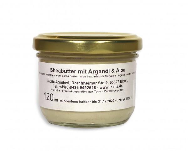 Sheabutter mit Arganöl und Aloe 120ml